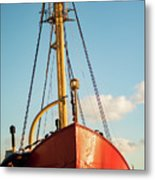 Docked At The Snowfront Metal Print