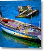 Docked Boat Metal Print