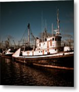 Docked For The Day Metal Print