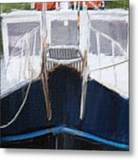 Docked For The Night Metal Print