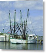 Docked In Port Orange Metal Print