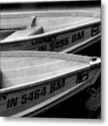 Docked Rowboats Metal Print