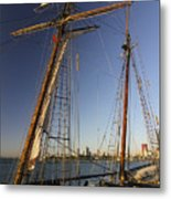 Docked Tall Ship Metal Print
