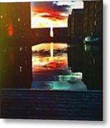 Dockland Sun Down Metal Print