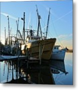 Docks At Darien  Metal Print