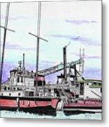 Docks N Boats Metal Print