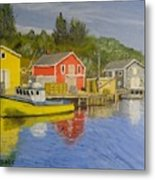 Docks Of Northwest Cove - Nova Scotia Metal Print