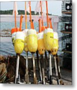 Dockside Huddle Metal Print