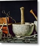 Doctor All Those Medical Instruments Metal Print