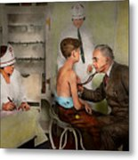 Doctor - At The Pediatricians Office 1925 Metal Print