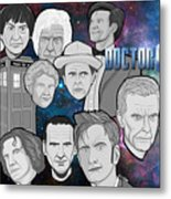 Doctor Who Collage Metal Print by Gary Niles