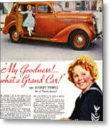 Dodge Automobile Ad, 1936 Metal Print by Granger