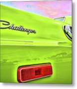 Dodge Challenger In Sublime Green Metal Print