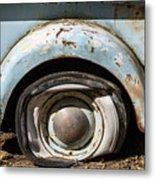 Dodge Pickup - Flat Tire Metal Print