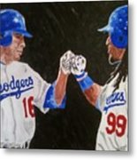 Dodgers Duo Metal Print by Daryl Williams Jr
