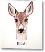 Doe Deer Metal Print