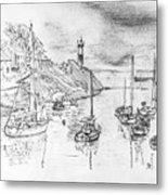 Doellan Sur Mer, Le Port Metal Print