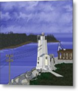 Dofflemeyer Point Lighthouse At Boston Harbor Metal Print