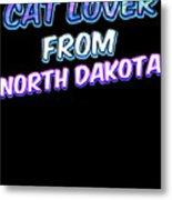 Dog Lover From North Dakota Metal Print