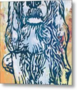 Dog Pop Etching Art Poster Metal Print