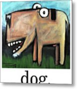 Dog Poster Metal Print