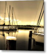 Dog River Marina Metal Print by Gulf Island Photography and Images