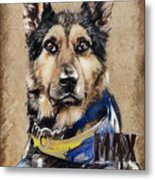 Dog Traditional Drawing Metal Print