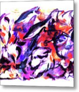 Doggies And Dolphins Metal Print