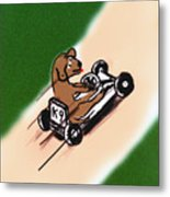 Dogs Don't Ride Go Carts Metal Print