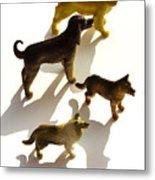 Dogs Figurines Metal Print