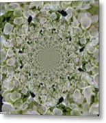 Doily Of Flowers Metal Print