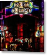 Doing The Post Alley Weave Metal Print