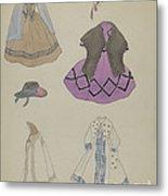 Doll And Wardrobe Metal Print