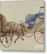 Doll Carriage Metal Print