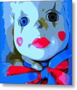 Doll In Blue Metal Print