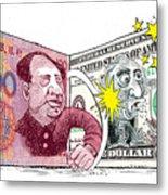 Dollar Vs Yen Metal Print