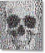 Dolls Skull Mosaic Metal Print