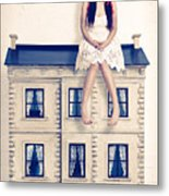 Dolly And Her House Metal Print