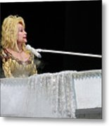 Dolly At The Pianao Metal Print