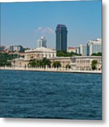 Dolmabahce Palace On The Bosphorus Metal Print