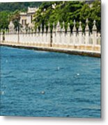 Dolmabahce Palace Tower And Fence Metal Print