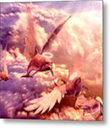 Dolphin Angels Metal Print