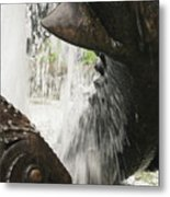 Dolphin Fountain 2 Metal Print