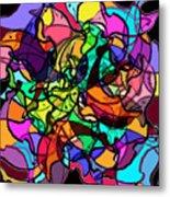 Dolphin Kaleidoscope Metal Print