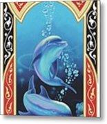 Dolphin Mecca Metal Print