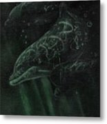 Dolphins 2 Metal Print