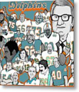 Dolphins Ring Of Honor Metal Print