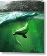 Dolphins Metal Print by Svetlana Sewell