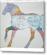 Dolpin Horse Metal Print