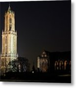 Dom Tower And Dom Church In Utrecht In The Evening 2 Metal Print